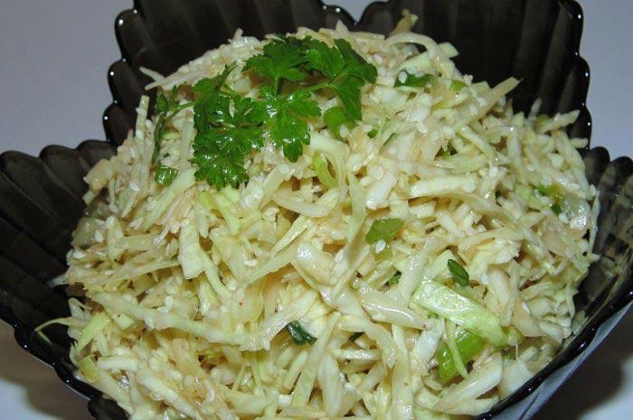 Итальянский салат из белокочанной капусты